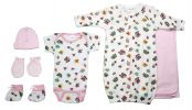 Bambini Newborn Baby Girls 6 Pc Layette Baby Shower Gift Set