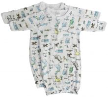 Bambini Boys Print Infant Gowns - 2 Pack