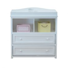 Leila I 2-Drawer Changer (Color Option: White)