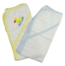 Bambini Infant Hooded Bath Towel (Pack of 2) (Size: One Size)