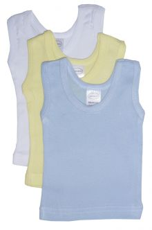 Bambini Boys Pastel Tank Top 3 Pack (Size: Large)