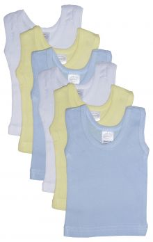 Bambini Boys' Six Pack Pastel Tank Top (Size: Large)