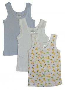 Bambini Boys Printed Tank Top Variety 3 Pack (Size: Large)
