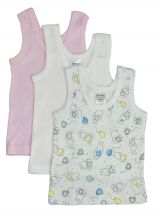 Bambini Girls Printed Tank Top Variety 3 Pack (Size: Large)