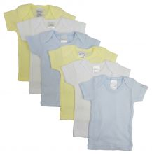 Bambini Boys Pastel Variety Short Sleeve Lap T-shirts 6 Pack (Size: Newborn)