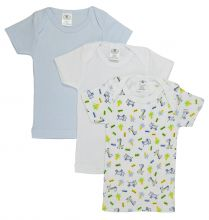 Bambini Printed Boys Short Sleeve Variety Pack (Size: Large)
