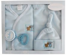 Bambini 4 Piece Fleece Set - Blue (Size: Newborn)