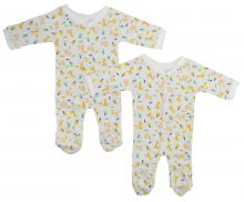 Bambini One Pack Terry Sleep & Play (Pack of 2) (Size: Small)