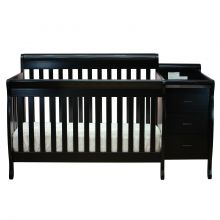 Kimberly Convertible Crib (Color Option: Black)