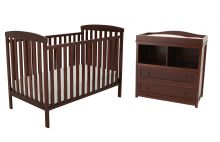Leila Crib & Changer Set (Color Option: Espresso)